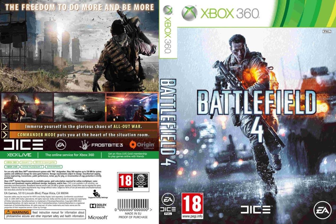 Battlefield 4 - Capa Game XBox 360
